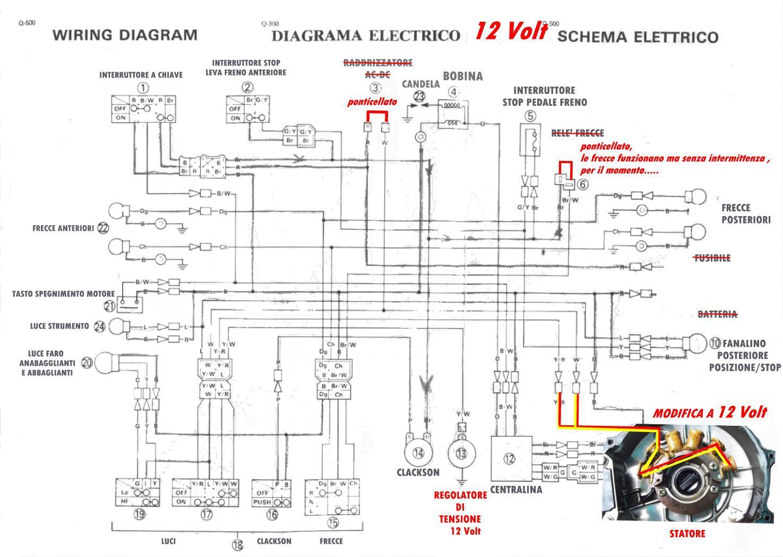 Schema Elettrico Per Temporizzatore : Varie impianto v tt yamaha x